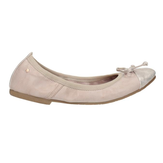 Dámské baleríny s pružným lemem bata, růžová, 521-8601 - 15