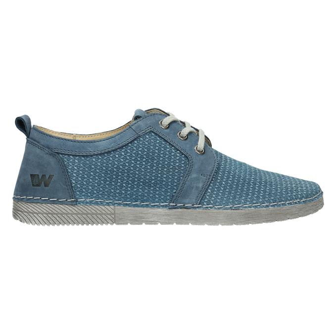 Ležérní kožené polobotky weinbrenner, modrá, 523-9475 - 15