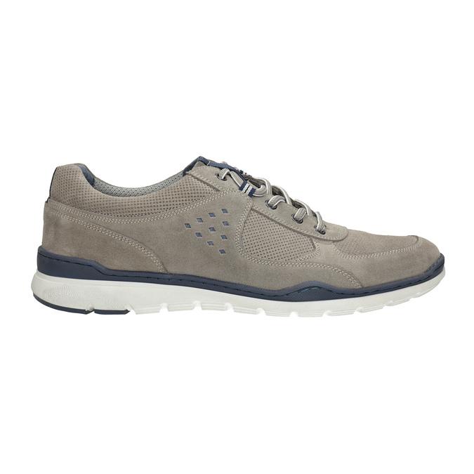 Ležérní kožené tenisky bata, šedá, 843-2627 - 15