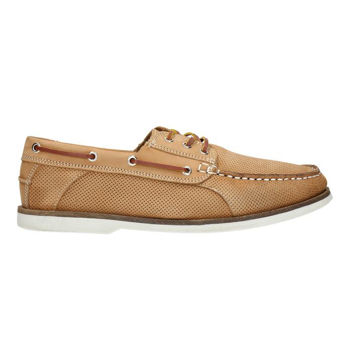 Kožené Boat Shoes bata, hnědá, 856-3604 - 15