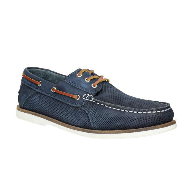 Kožené Boat Shoes bata, modrá, 2021-856-9604 - 13