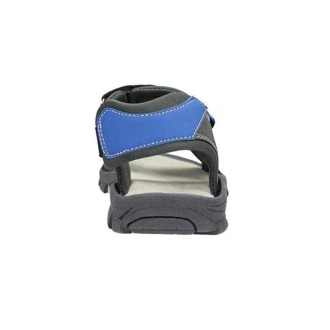 Dětské sandály na suché zipy mini-b, šedá, 461-2605 - 17