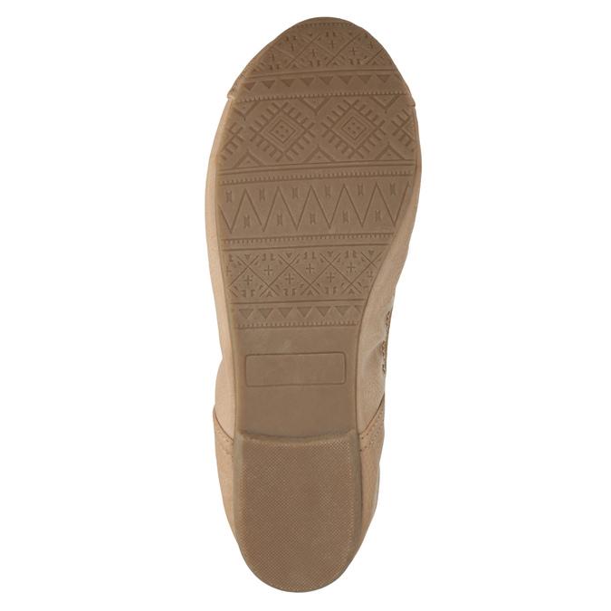 Dámské baleríny s pružným lemem bata, béžová, 521-5601 - 26
