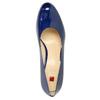 Kožené lakované lodičky hogl, modrá, 728-9400 - 19