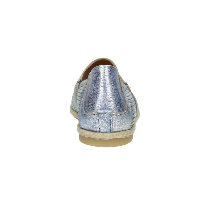 Dámská obuv ve stylu Slip-on bata, modrá, 516-9604 - 17