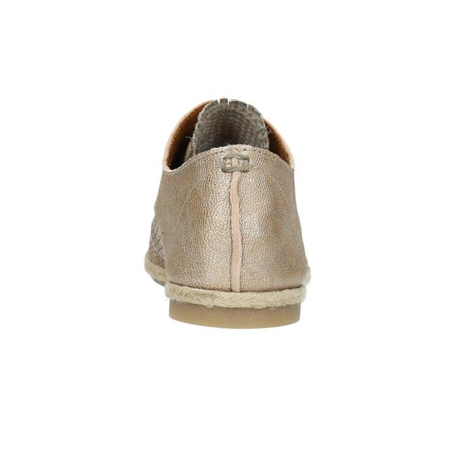Dámské kožené polobotky bata, béžová, 526-8629 - 17