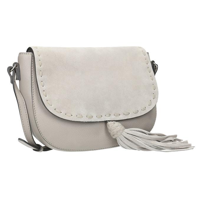 Kožená kabelka se střapcem bata, béžová, 964-8161 - 13
