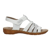 Kožené sandály šíře H bata, bílá, 566-1604 - 15