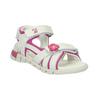 Kožené sandály na suché zipy mini-b, bílá, 263-1603 - 13