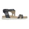 Kožené sandály na výrazné podešvi bata, modrá, 566-9606 - 15