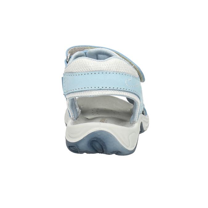 Kožené dětské sandály weinbrenner-junior, modrá, 466-9607 - 17