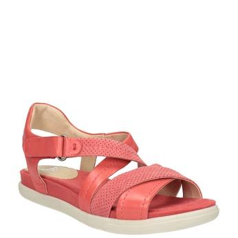 Červené kožené sandály bata-light, červená, 566-5609 - 13