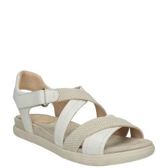 Kožené dámské sandály bata-light, béžová, 566-1609 - 13