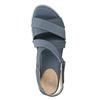 Modré kožené sandály bata-light, modrá, 566-9609 - 19