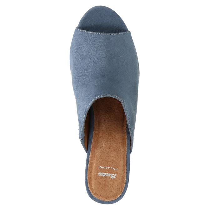 Mules nazouváky bata, modrá, 769-9615 - 19