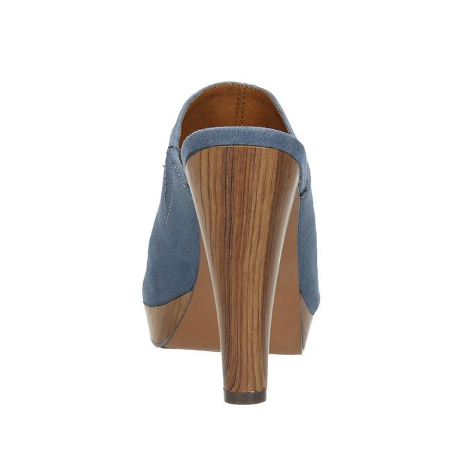 Mules nazouváky bata, modrá, 769-9615 - 17