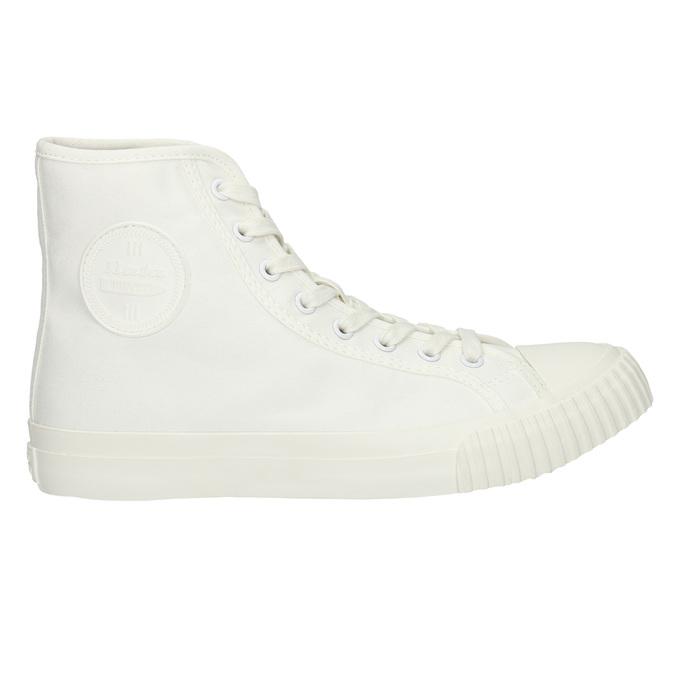 Pánské kotníčkové tenisky bílé bata-bullets, bílá, 889-1291 - 15