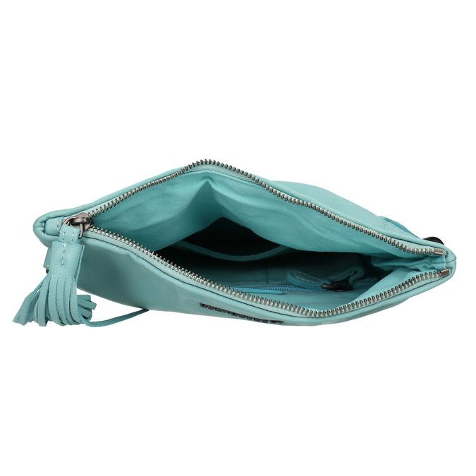 Modrá kožená kabelka fredsbruder, modrá, 964-9037 - 15