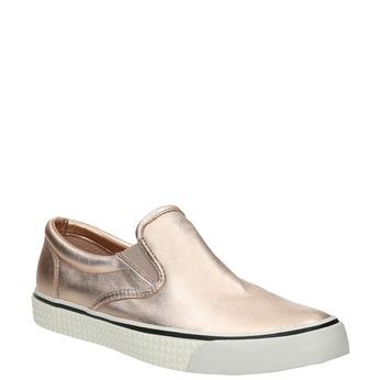 Zlatá dámská obuv ve stylu Slip-on diesel, růžová, 504-8437 - 13