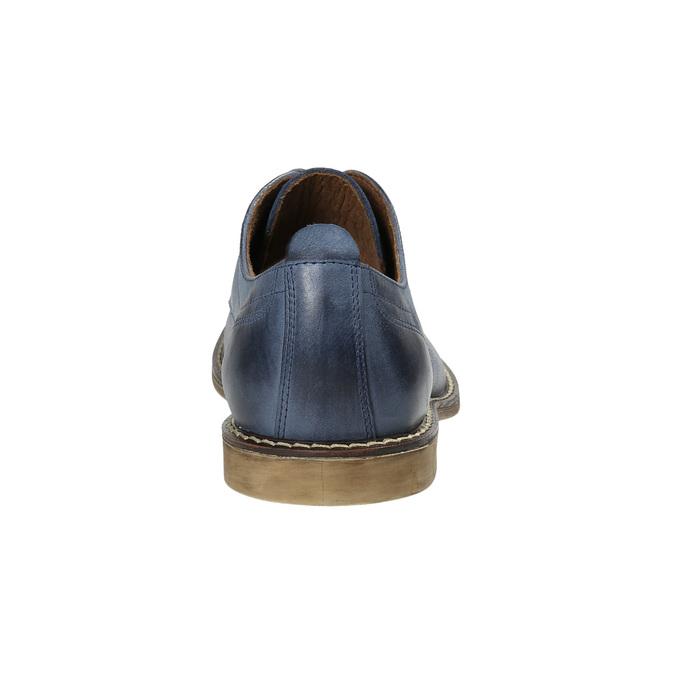 Modré kožené polobotky bata, modrá, 826-9601 - 17