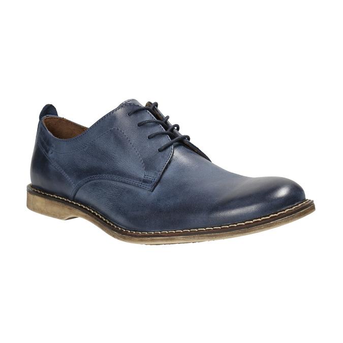 Modré kožené polobotky bata, modrá, 826-9601 - 13