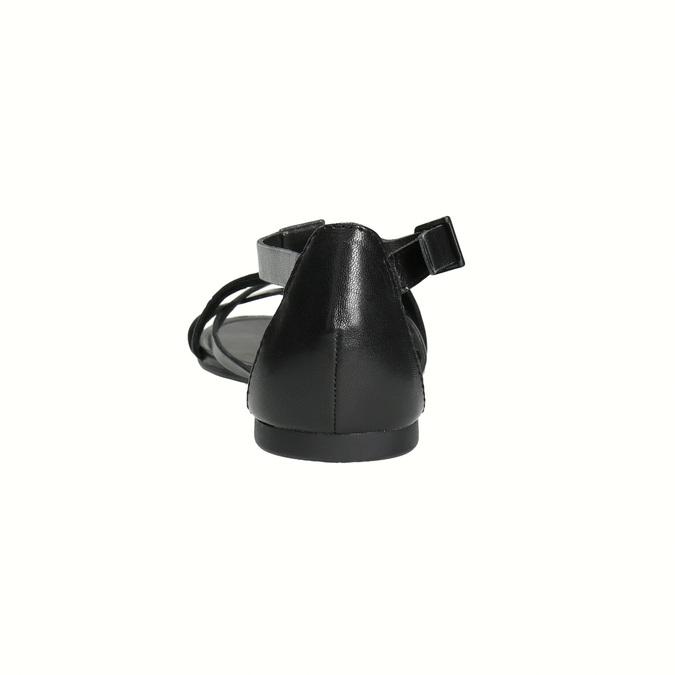 Černé dámské sandály vagabond, černá, 564-6017 - 17