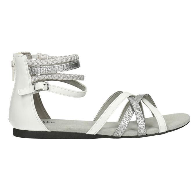Dívčí páskové sandály bullboxer, bílá, 461-1001 - 15