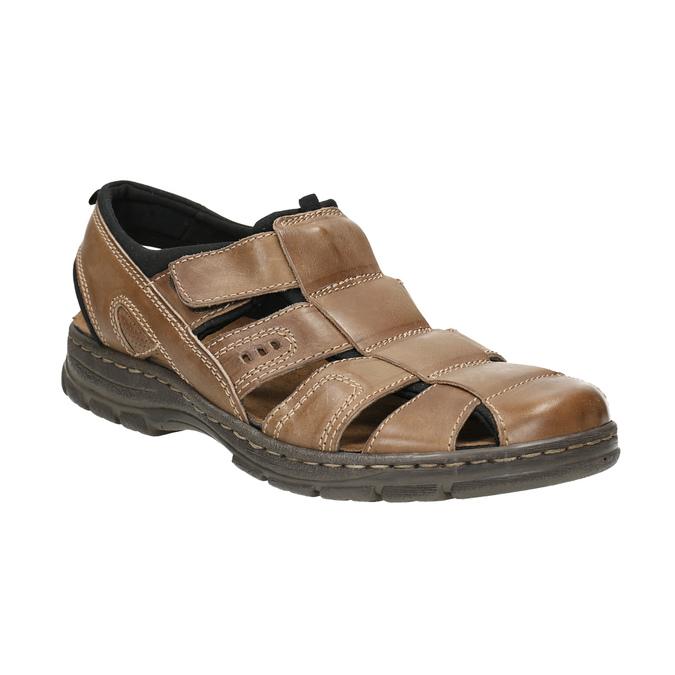 Kožené pánské sandály bata, hnědá, 856-4600 - 13