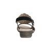 Kožené dámské sandály s perforací gabor, černá, 663-6201 - 17