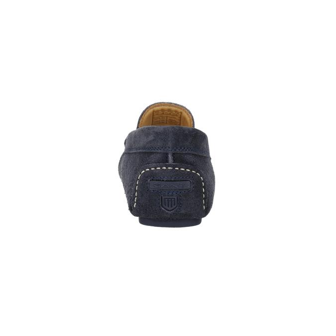 Mokasíny z broušené kůže gant, modrá, 813-9030 - 17