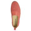 Dámské kožené Slip-on s perforací weinbrenner, oranžová, 516-5609 - 19