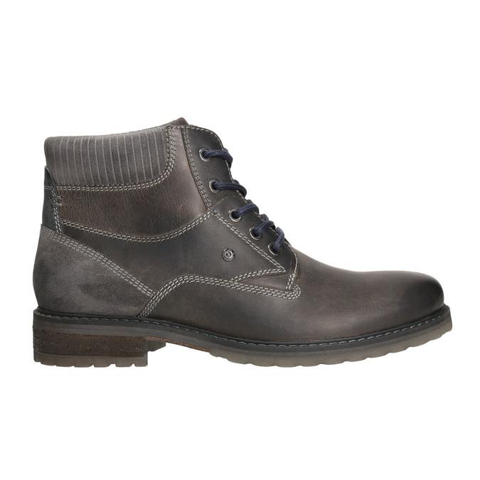 Kožená obuv ke kotníkům bata, šedá, 894-2643 - 15
