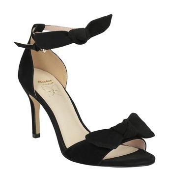Dámské černé sandály na podpatku insolia, černá, 769-6614 - 13