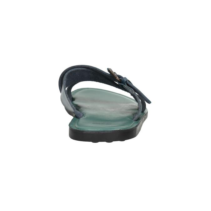 Kožené modré nazouváky bata, modrá, 866-9623 - 17