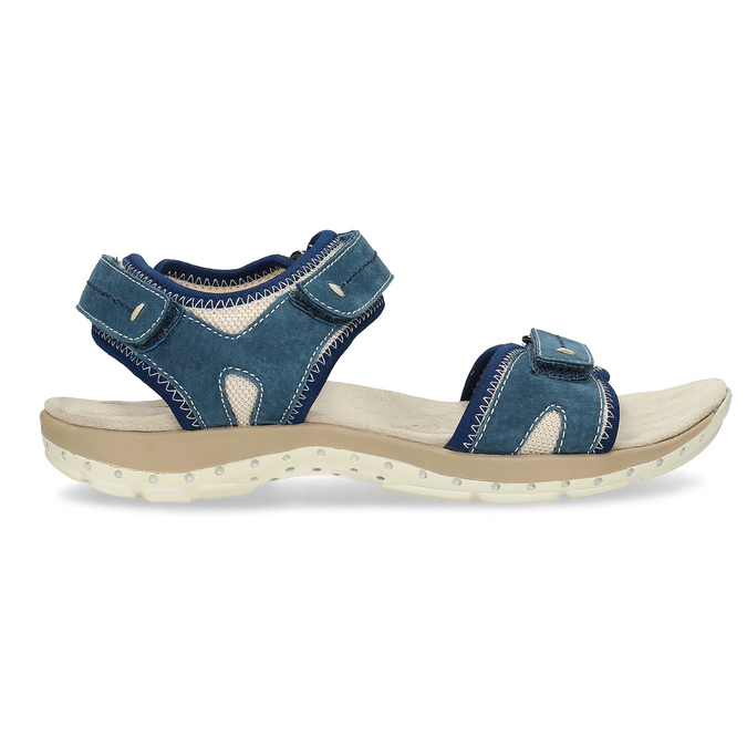 Kožené sandály v Outdoor stylu weinbrenner, modrá, 566-9608 - 19