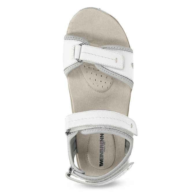 Kožené dámské sandály v Outdoor stylu weinbrenner, bílá, 566-1608 - 17