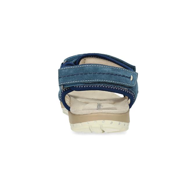 Kožené sandály v Outdoor stylu weinbrenner, modrá, 566-9608 - 15
