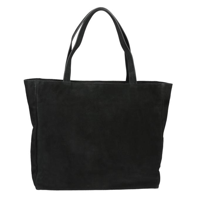 Dámská kožená Shopper kabelka bata, černá, 963-6191 - 19