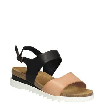 Kožené dámské sandály weinbrenner, černá, 566-6629 - 13