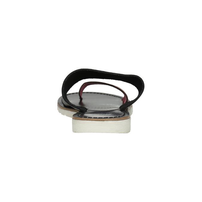 Dámské kožené nazouváky bata, černá, 566-5614 - 17
