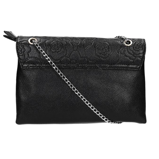 Menší černá kabelka s klopu bata, černá, 961-6731 - 19
