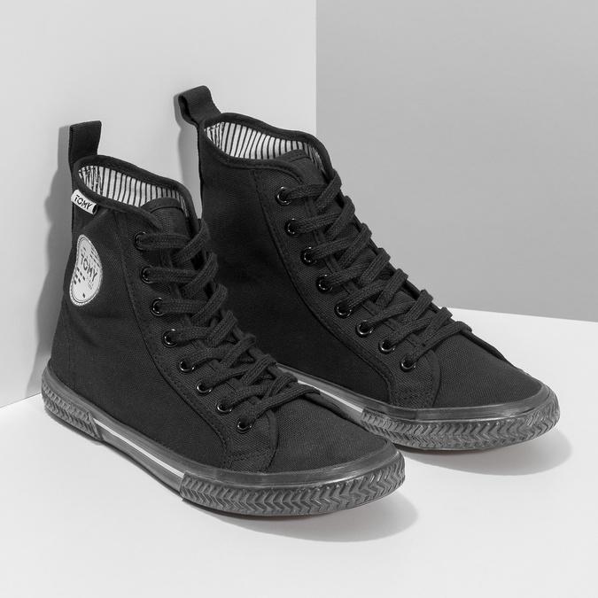 Černé kotníčkové tenisky tomy-takkies, černá, 589-6173 - 26