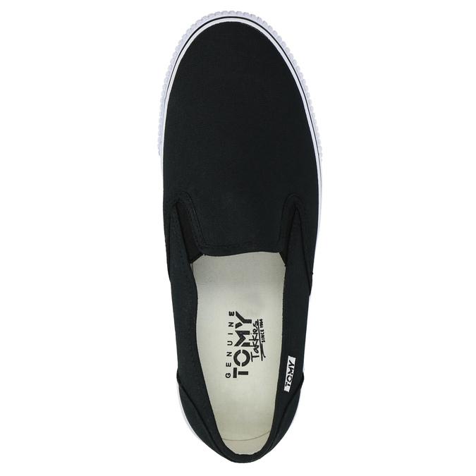 Černé pánské Slip-on tomy-takkies, černá, 889-6229 - 19