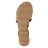 Korkové sandály s hadím vzorem bata, černá, 561-6606 - 26