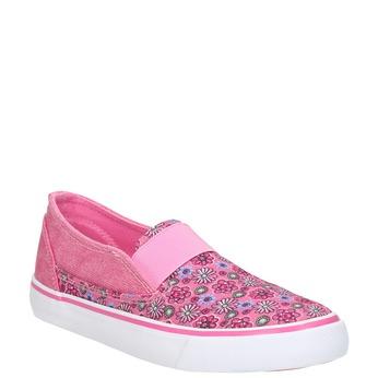 Dívčí Slip-on se vzorem mini-b, růžová, 329-5611 - 13