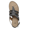 Korkové sandály s hadím vzorem bata, černá, 561-6606 - 19
