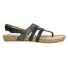 Korkové sandály s hadím vzorem bata, černá, 561-6606 - 15