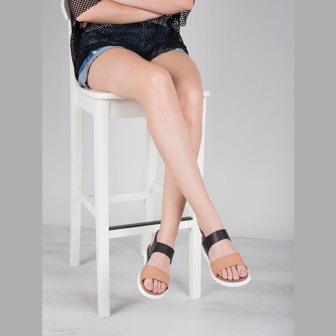 Kožené dámské sandály weinbrenner, černá, 566-6629 - 18