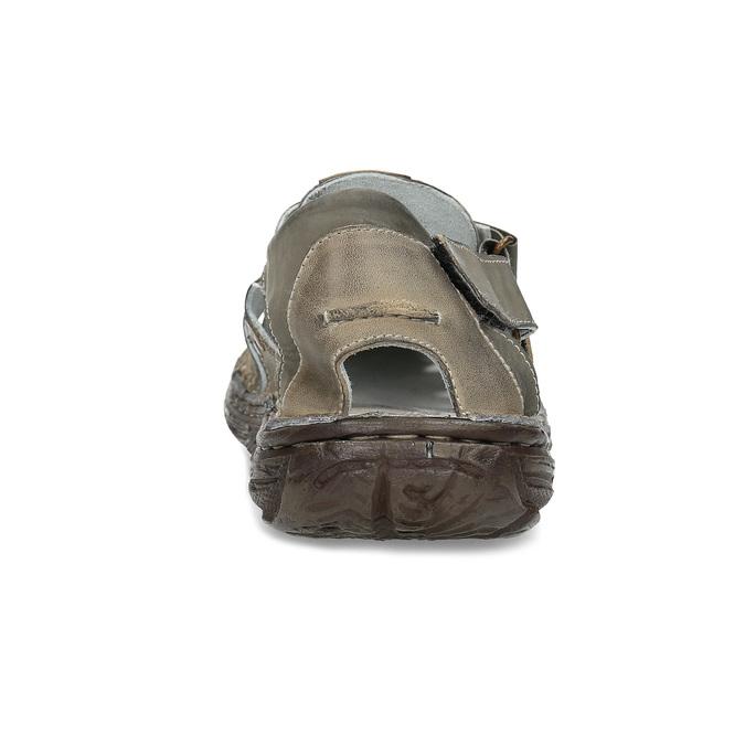 Pánské kožené sandály hnědé bata, hnědá, 866-2622 - 15