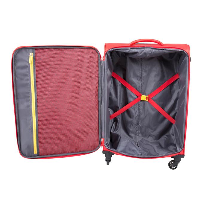 Červený cestovní kufr na kolečkách american-tourister, červená, 969-5172 - 17